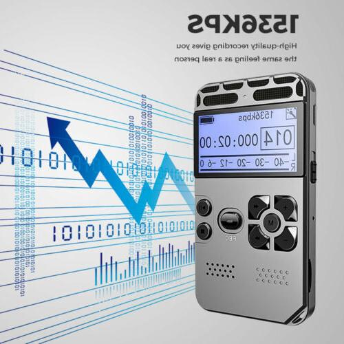 64G LCD Audio Sound Voice Dictaphone MP3