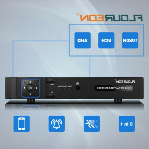 Surveillance 5 IN 1 8CH AHD Home CCTV Security Video Recorder NVR