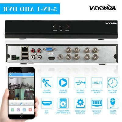 KKmoon 8Channel 1080P NVR AHD DVR 5In1 Video Recorder Cloud