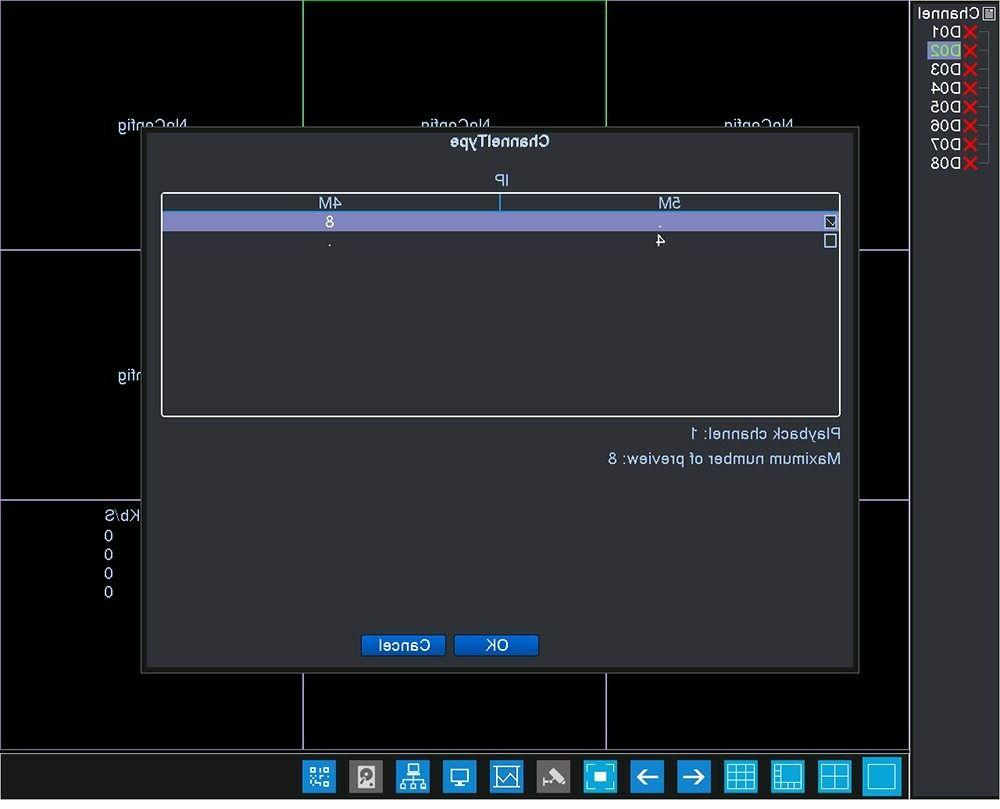 8CH NVR Video 8 Channel 4MP 4CH HDMI Onvif App