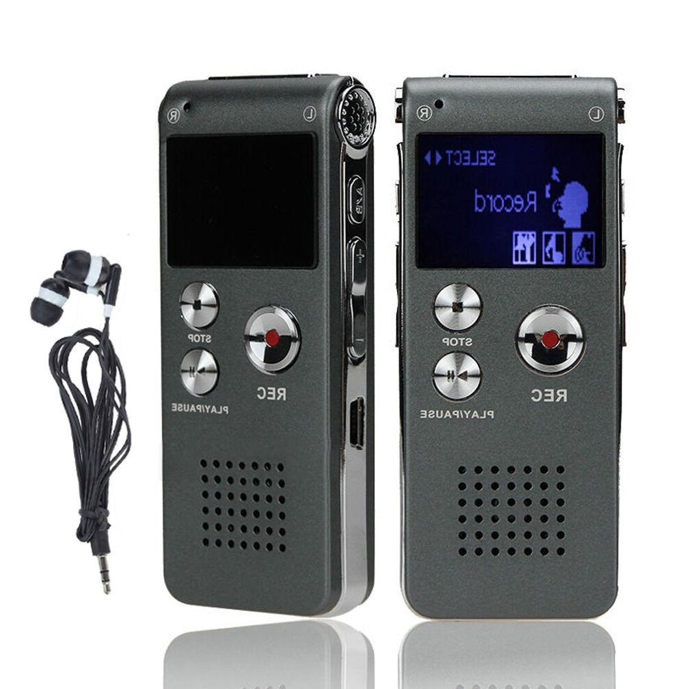 8gb 650hr digital audio voice recorder rechargeable