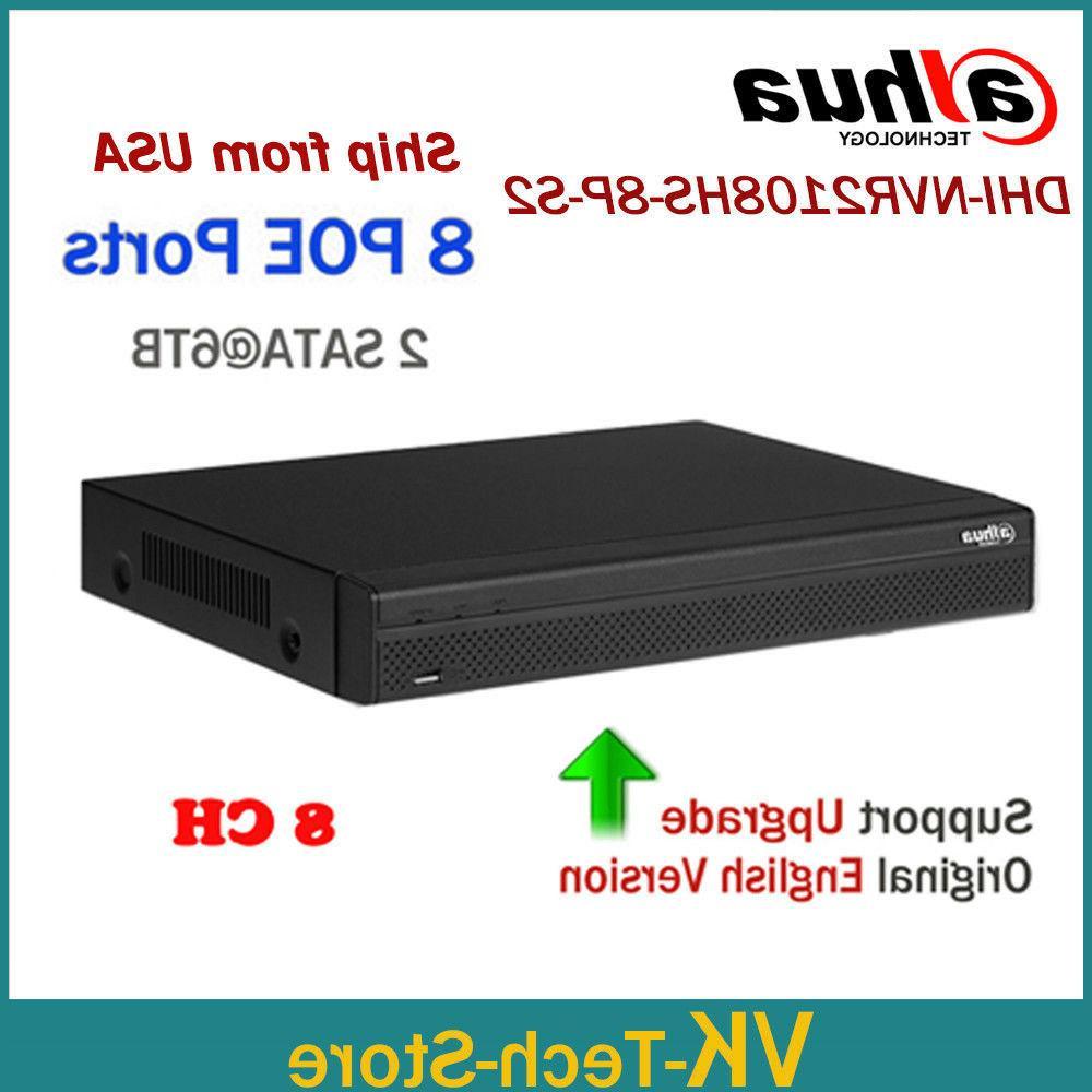 Dahua Updatable 6MP 8CH 8POE NVR Recorder NVR2108HS-8P-S2 8