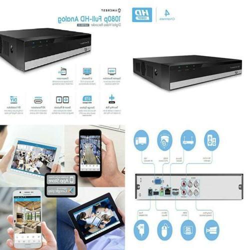 Amcrest AMDV10814 ProHD 1080P 4CH Video Security DVR Digital
