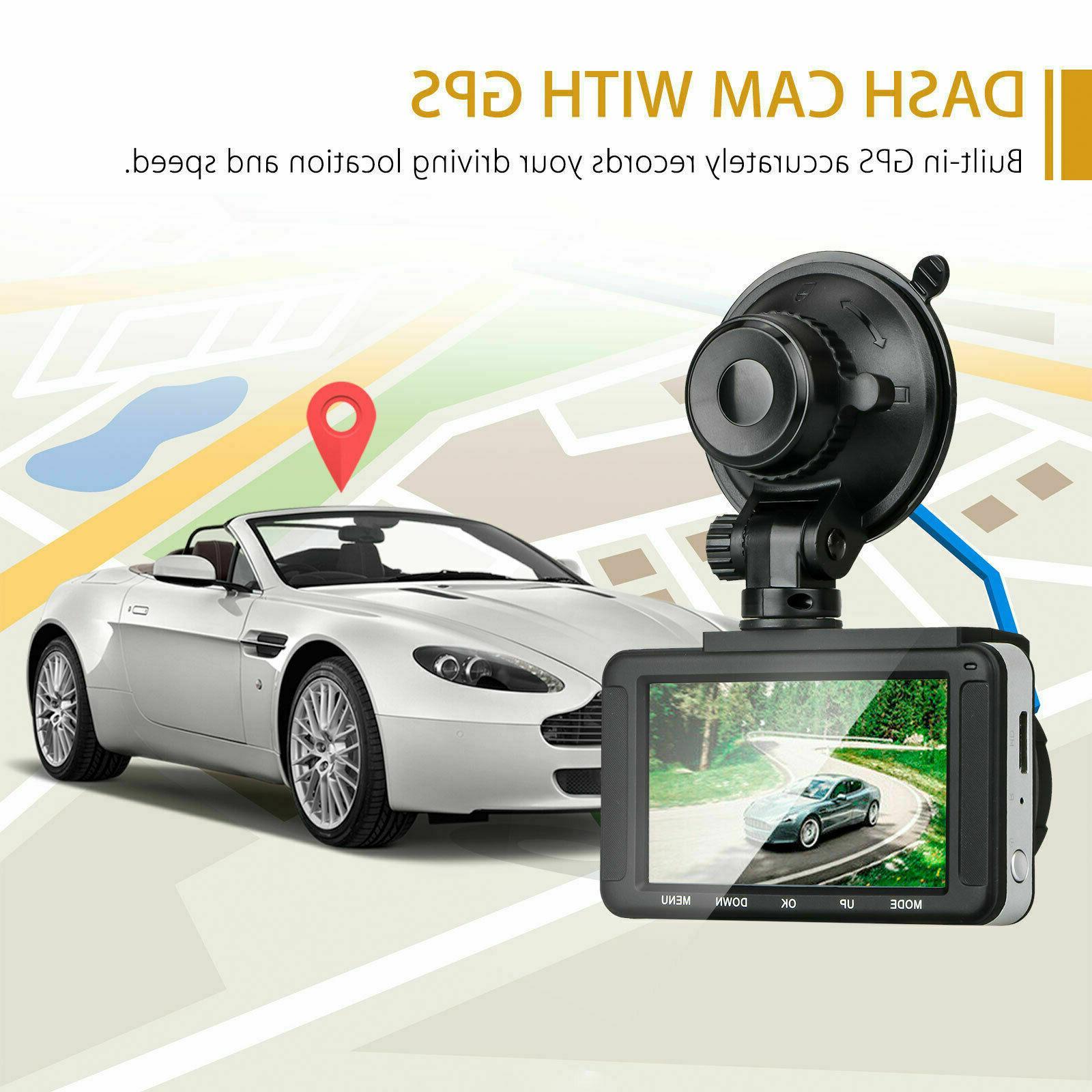 XGODY FHD Dash Cam Car with Video Night Vision
