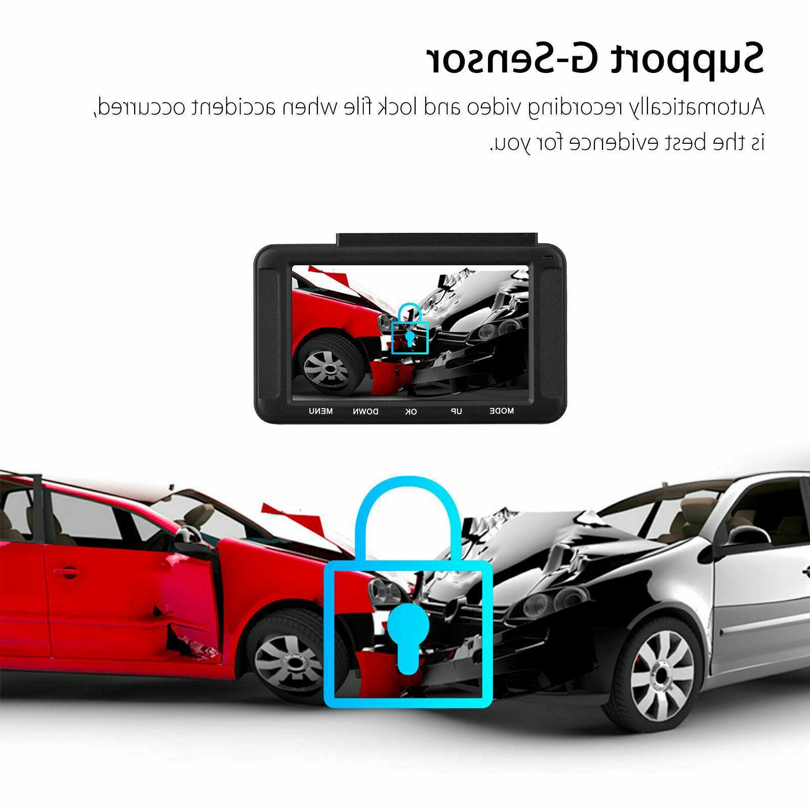XGODY Dash Cam Car Camera with GPS Video Recorder Night Vision