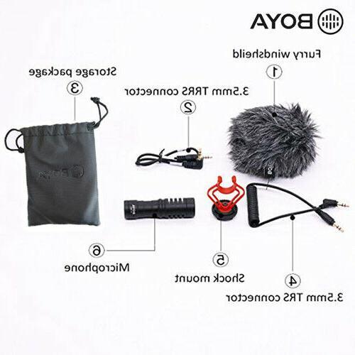 BOYA BY-MM1 Microphone DSLR Camera Smartphone