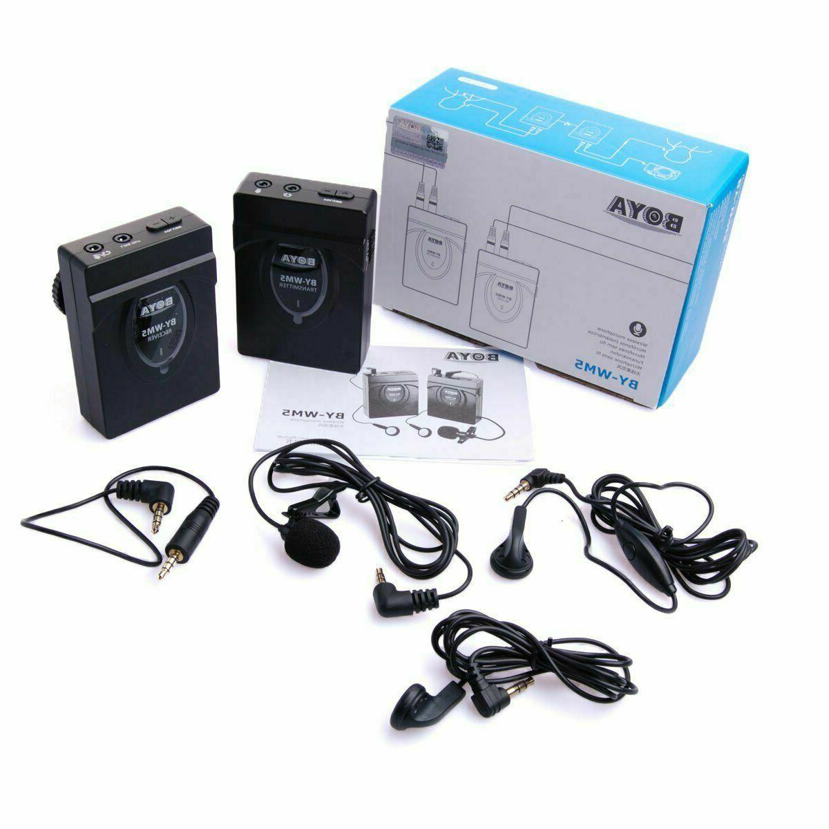 BOYA Wireless Lavalier Lapel System Camera