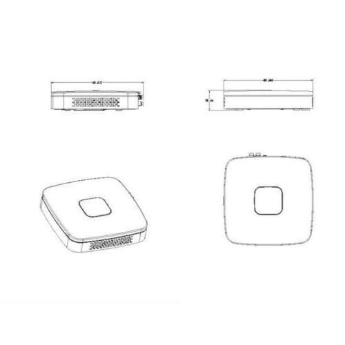 Dahua Recorder DMI HDCVI/AHD/TVI/CVBS/IP 4MP H