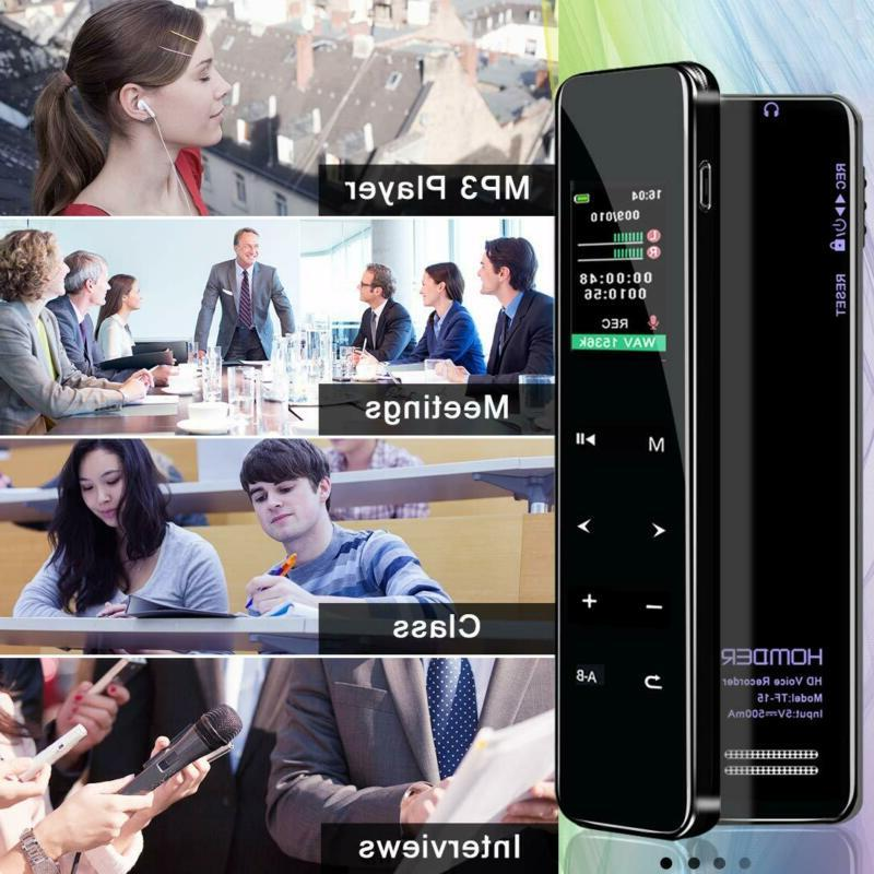 Digital Voice Homder 16G Screen Voice Activated For Lec