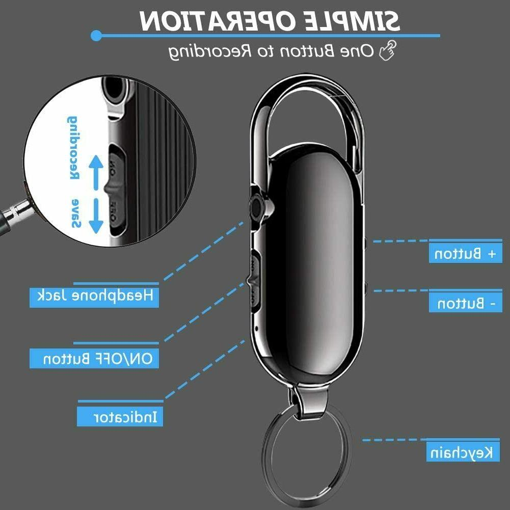 Digital Voice Keychain Mini Audio Recorder for Lectures Voi