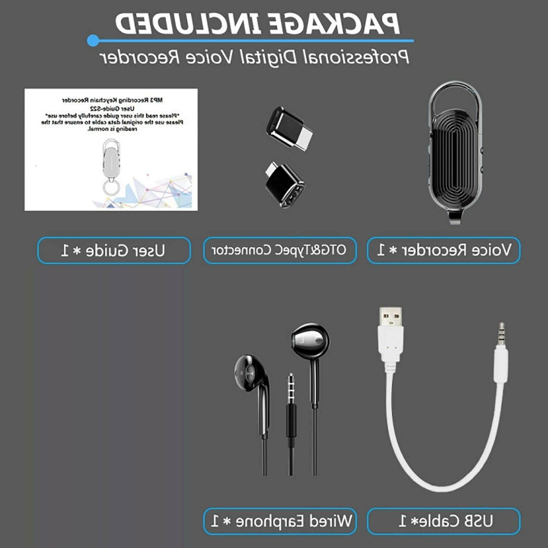 Digital Voice Keychain Mini Recorder for