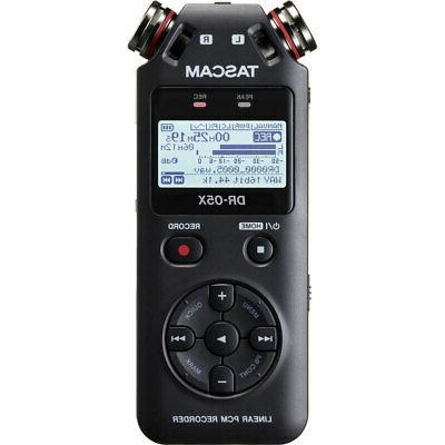 dr 05x stereo handheld digital audio recorder