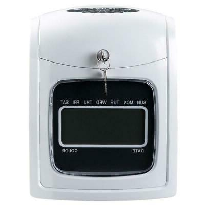 Electronic Recorder Time Punch Clock LCD Cards Holders Supplier