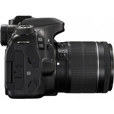 Canon 80D Camera w/18-55mm Lens Memory Kit