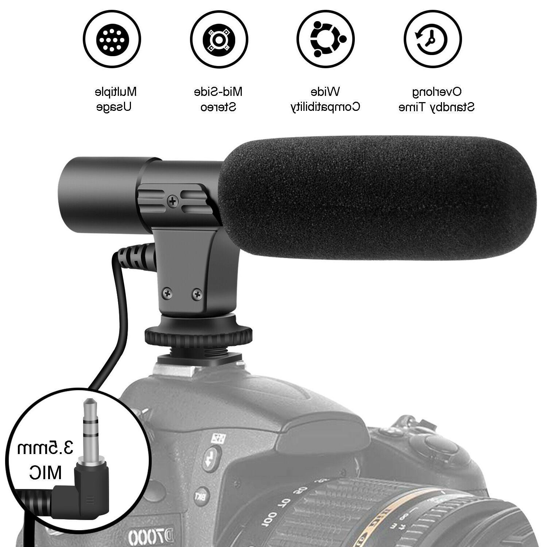Interview Recording Camera Condenser Microphone For DSLR Nikon 3.5mm