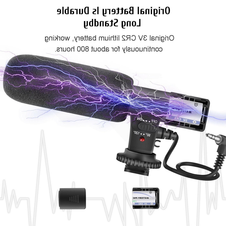 External Camera Microphone For Nikon Canon DV