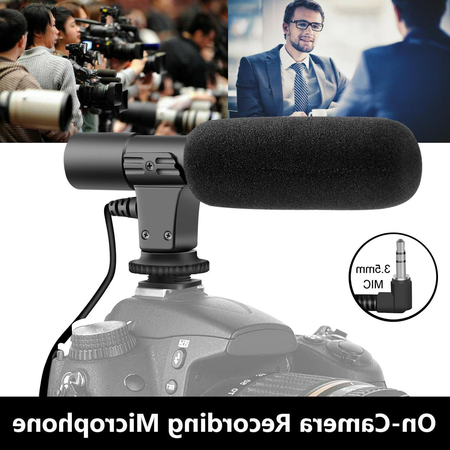 external interview video recording camera microphone mic