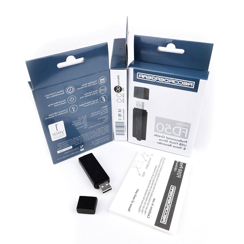 RecorderGear FD50 USB Spy 8GB
