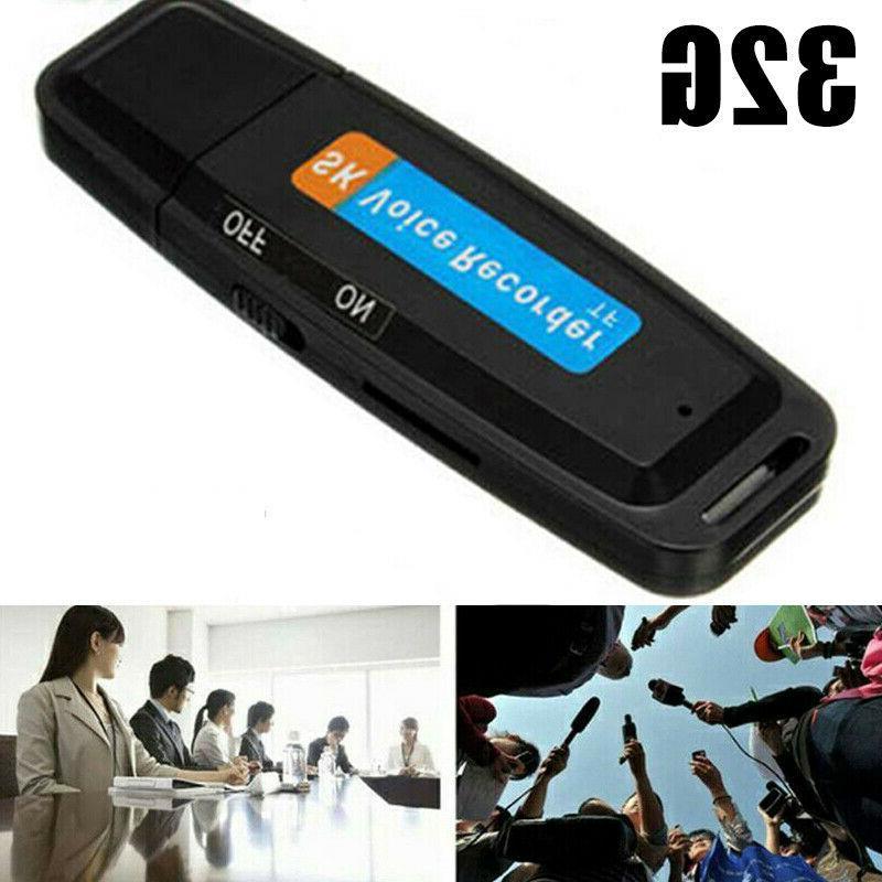 32GB Digital Voice Audio Recorder USB Flash Drive Sound Reco