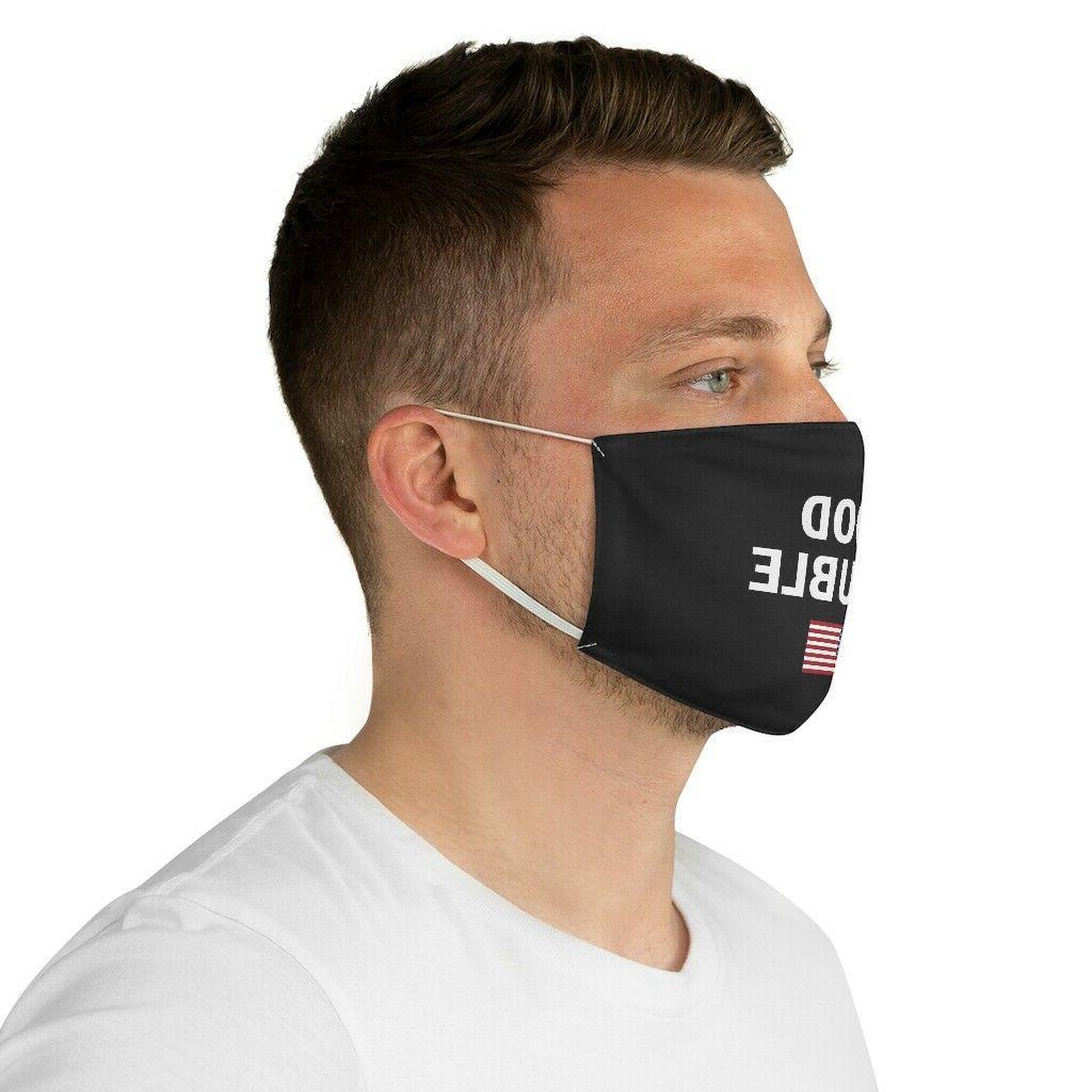 Good Trouble US flag Black Polyester Mask