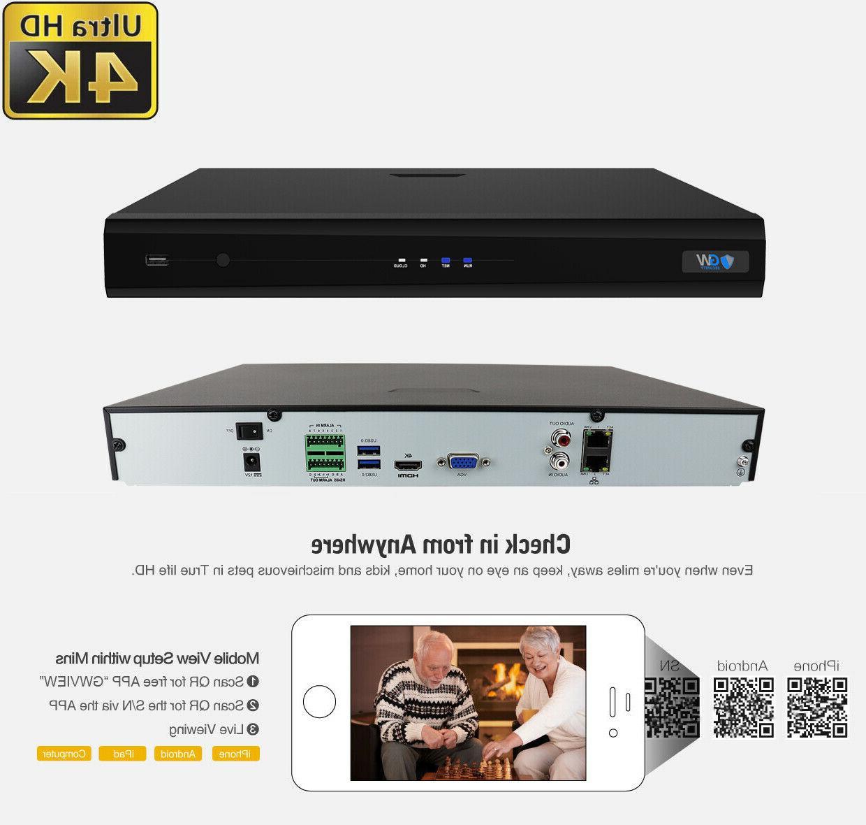 GW H.265 4K 12MP IP Security Video