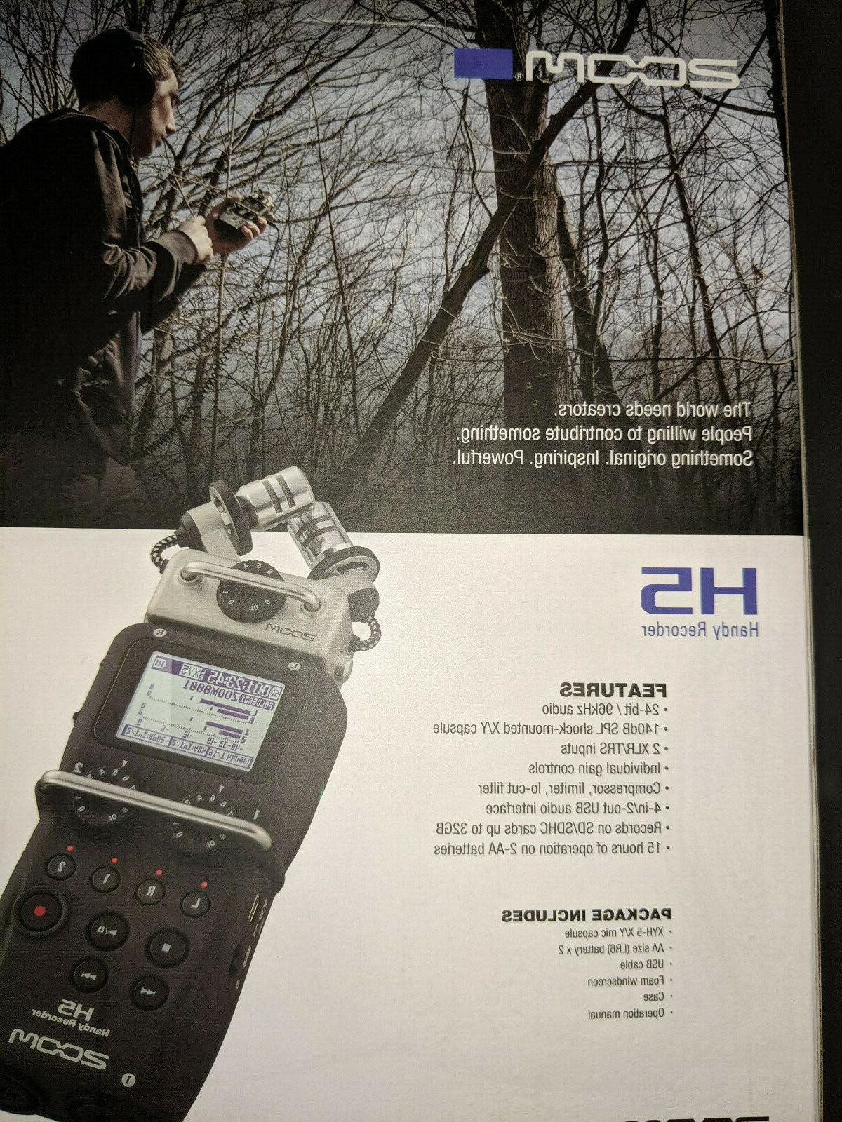 Zoom H5 Portable Digital Recorder with mic system