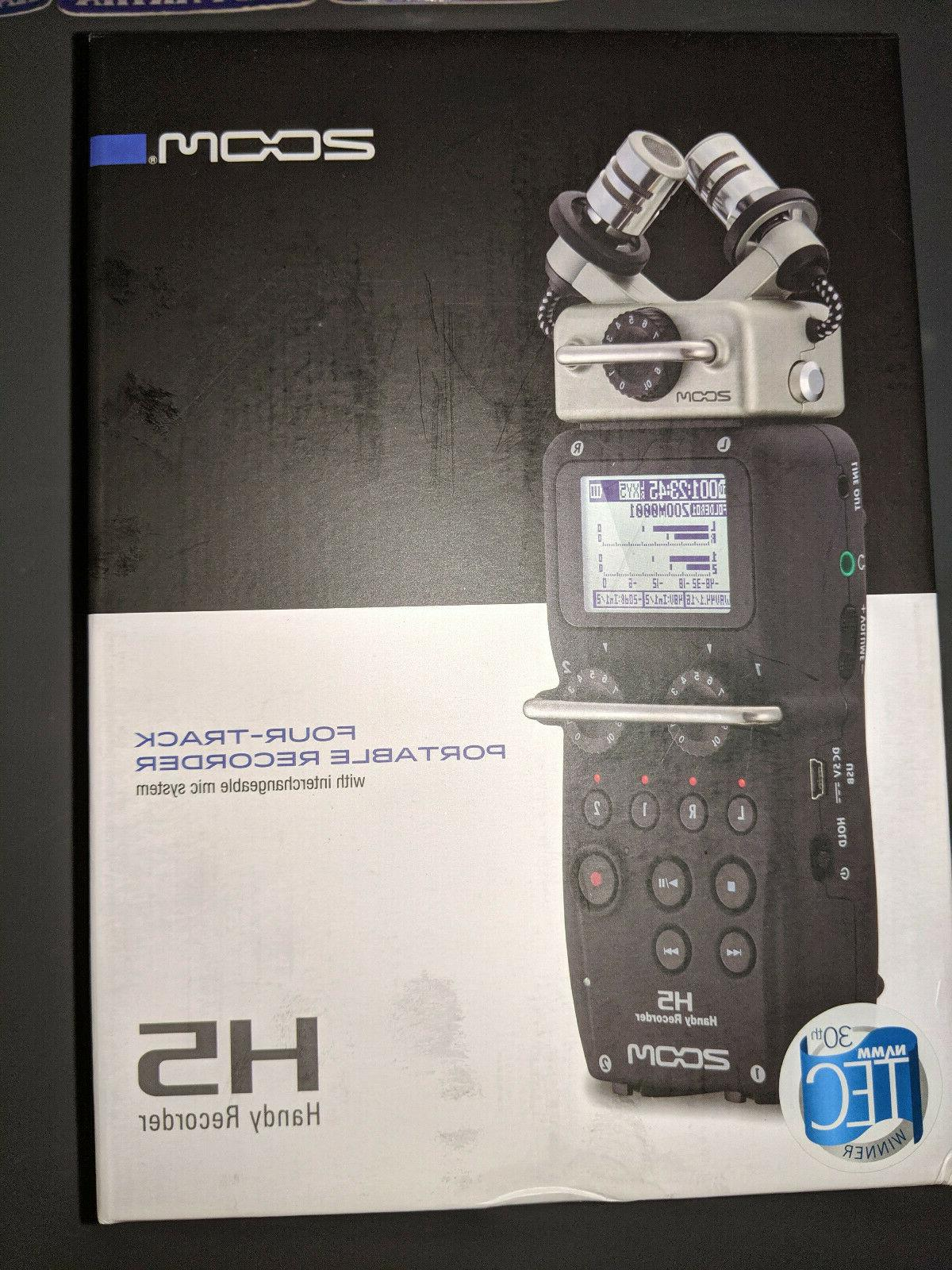 h5 four track portable digital recorder