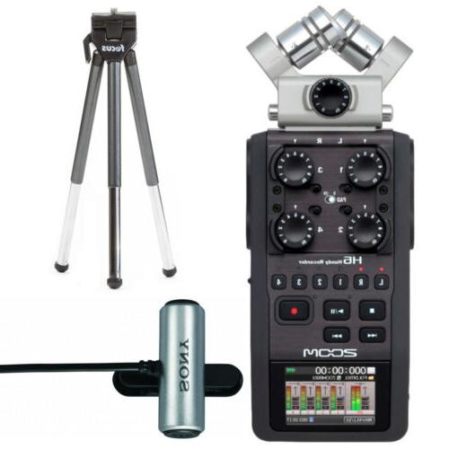 h6 four track audio recorder with sony