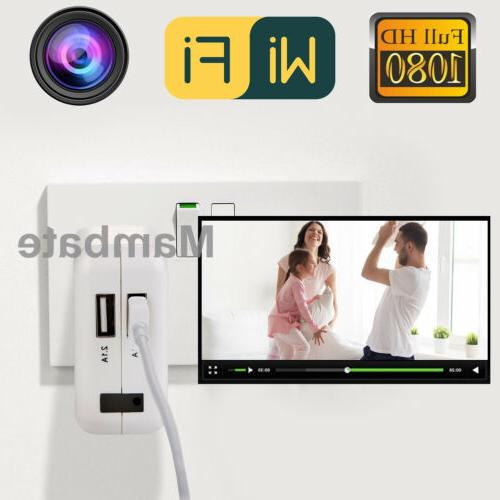 HD 1080P Camera USB Wall Charger Video Recorder Cam