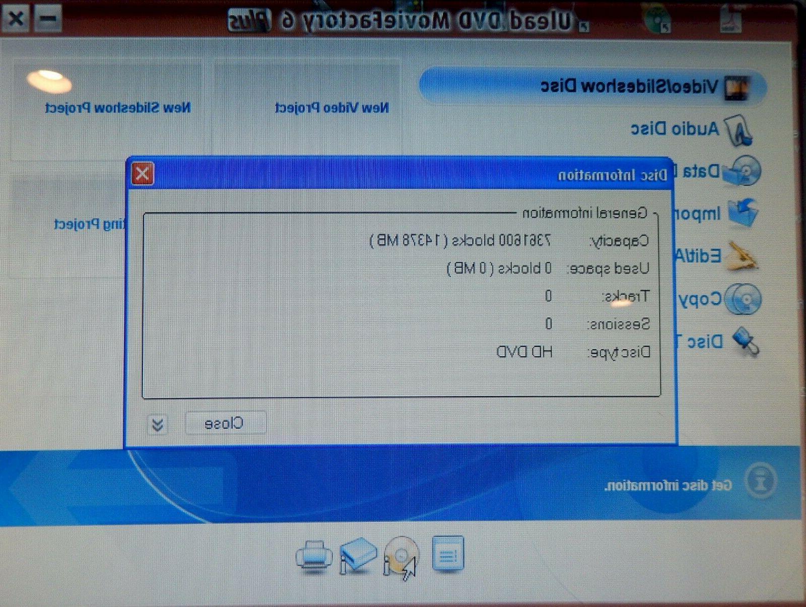 Toshiba HD Recorder USB Burner Writer