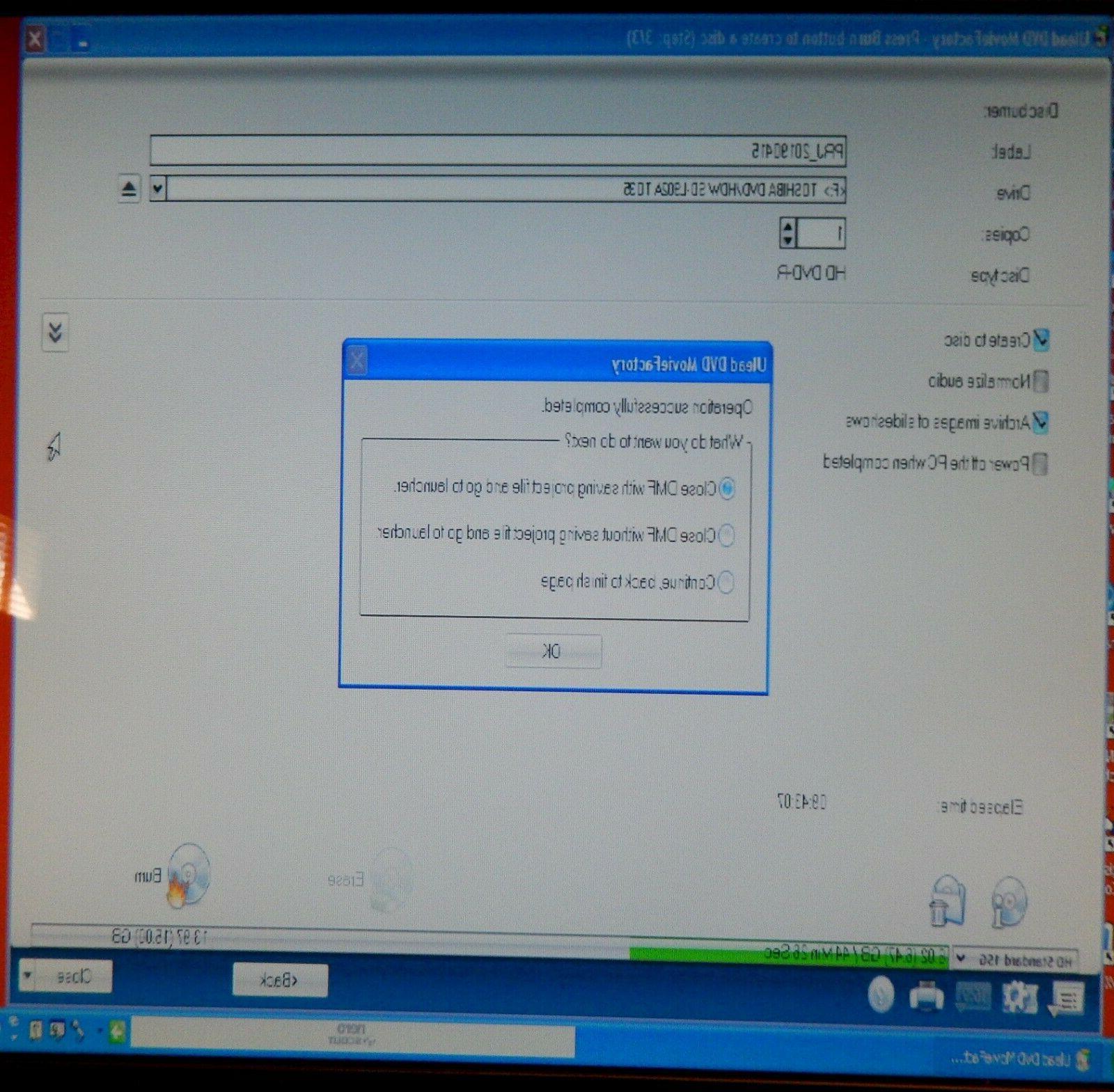 Toshiba HD DVD Recorder DVD/DVD USB Burner Writer SD-L902A
