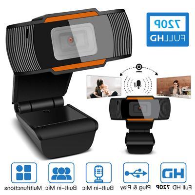 HD USB Webcam Video Microphone Desktop