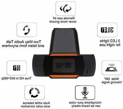 HD USB Camera Webcam Video Recording Microphone For Desktop
