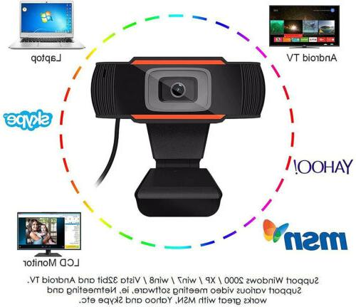 HD USB Web Camera Webcam Microphone Desktop