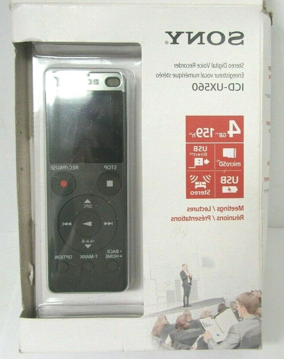 icdux560 4gb stereo digital voice recorder