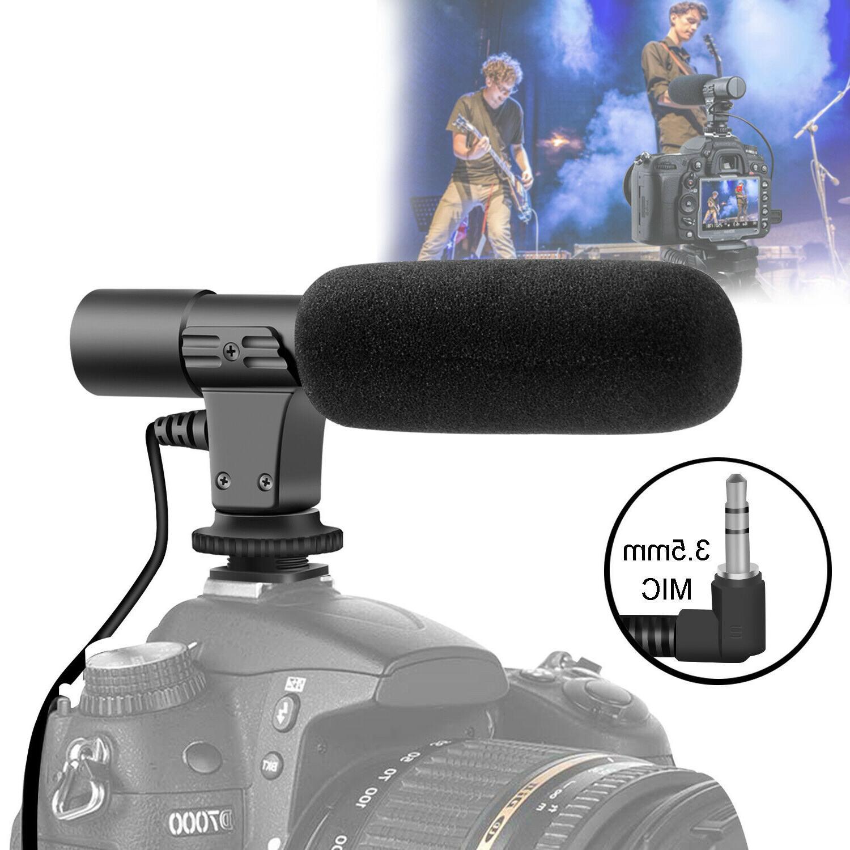 interview video recording camera condenser microphone