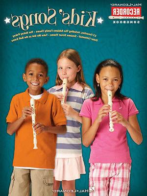 kids songs for recorder solo sheet music