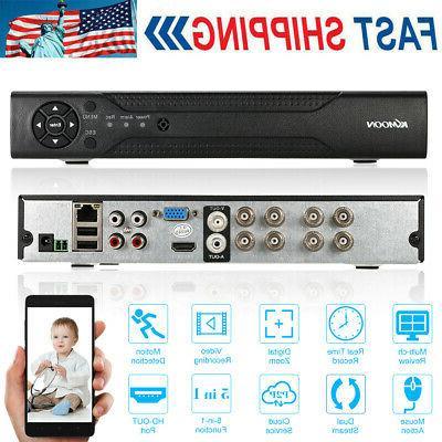 KKmoon 8CH 1080P Hybrid NVR DVR 5in1 Digital Video Recorder