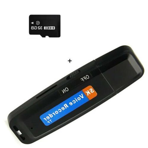 Mini Digital Recorder Dictaphone USB Drive U-Disk 8GB/16GB