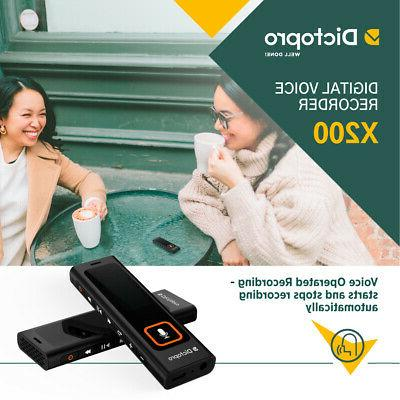 Mini Recorder Dictopro, 8GB Spy Dictaphone MP3