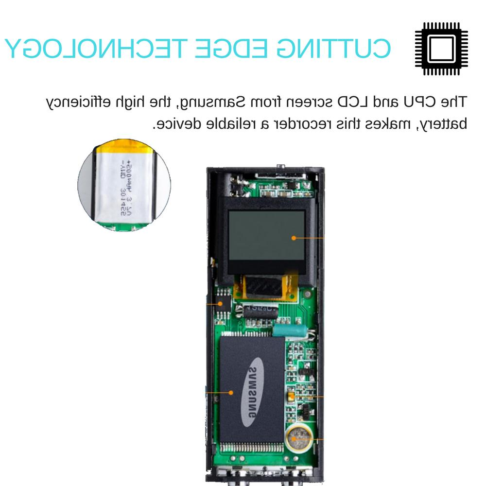 LCD Activated Mini Clip On Magnetic USB Digital 8GB