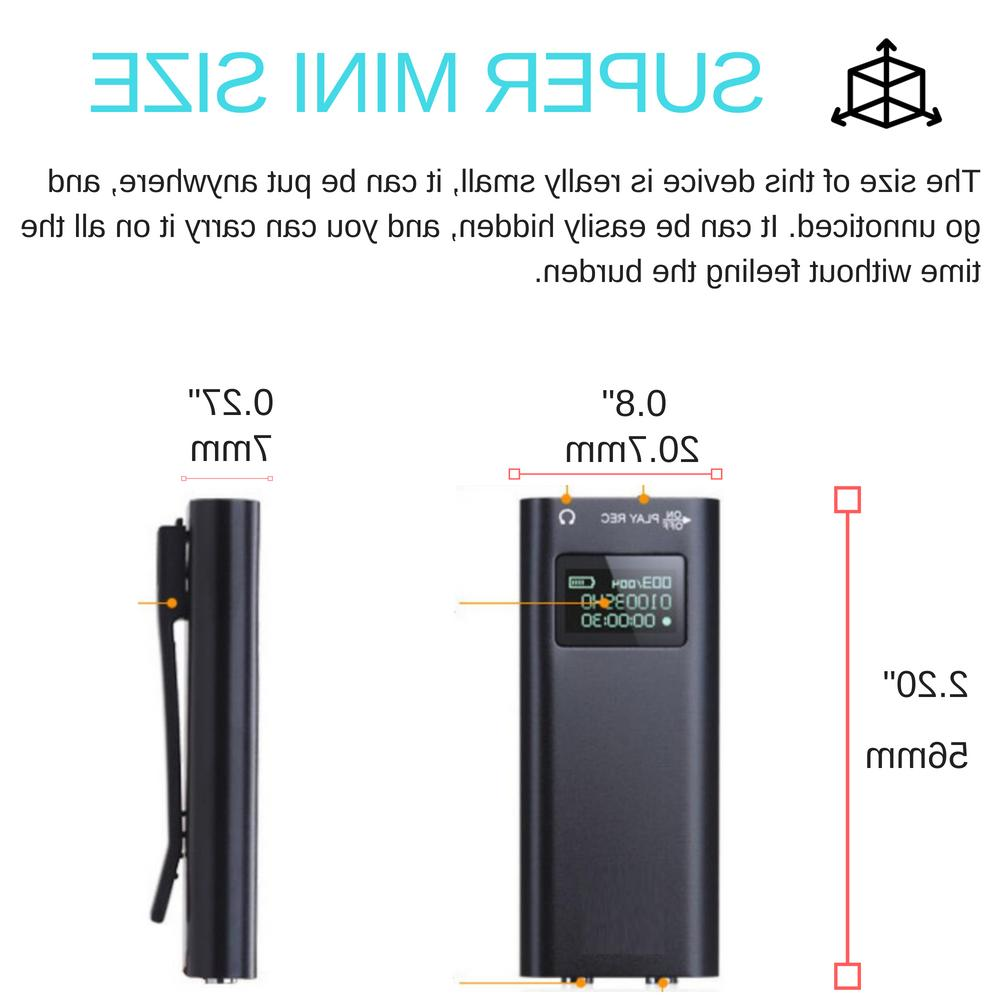 LCD Clip Magnetic Digital 8GB