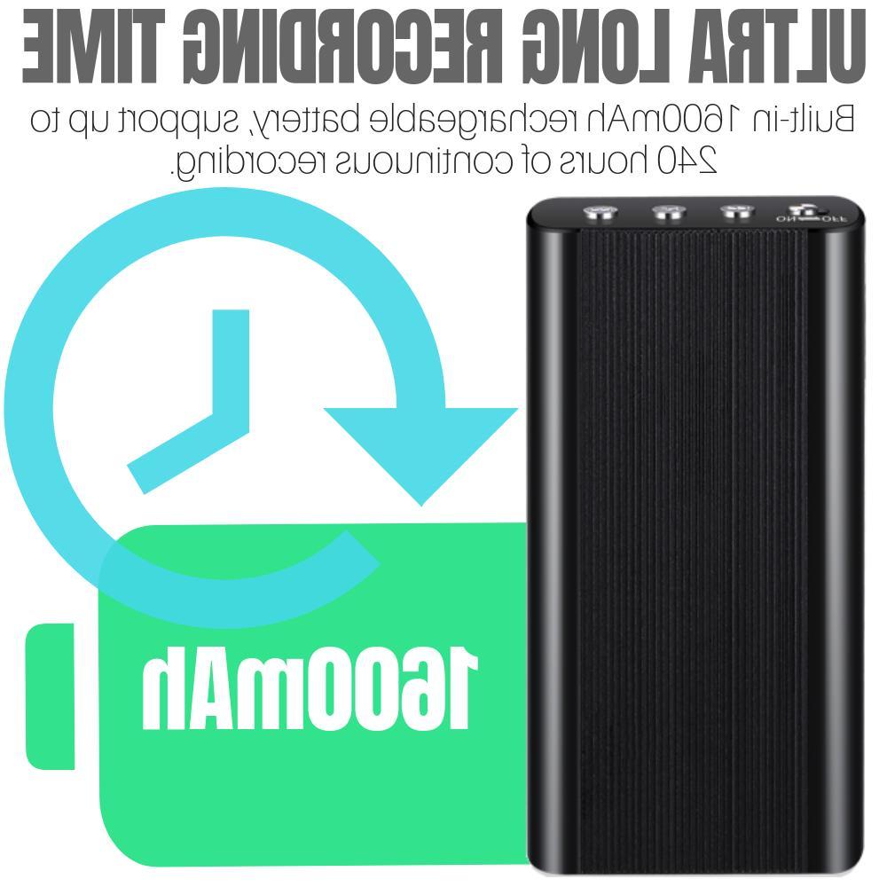 240 Hr Digital Voice Activated Audio Player