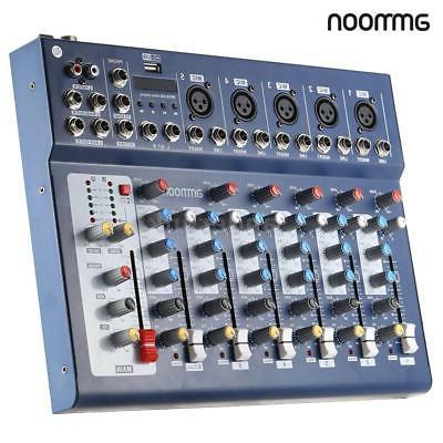 New F7-USB 7-Channel Mixer Console USB for DJ