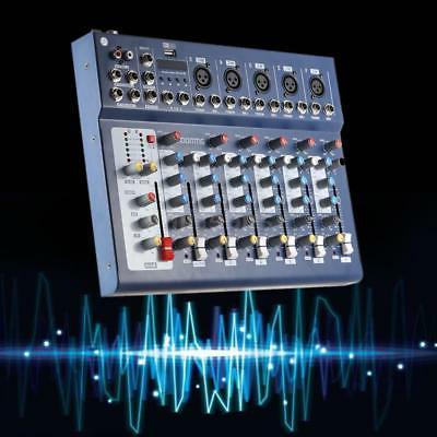 new f7 usb 7 channel mixer console