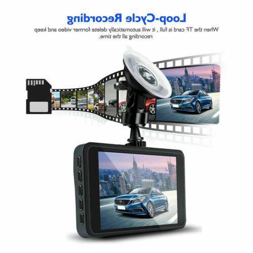 """New Full HD 1080P Wide Angle Len 4.0""""Automobile Camera"""