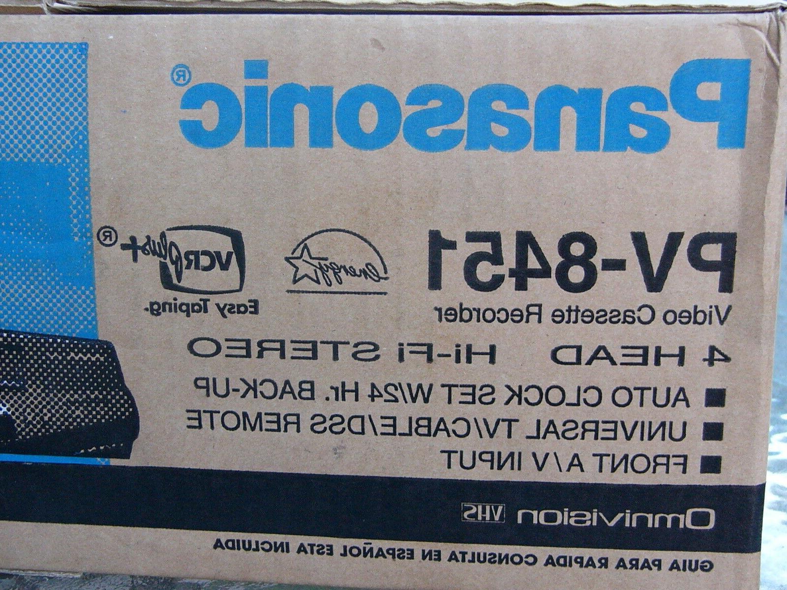 NEW Panasonic VCR Stereo