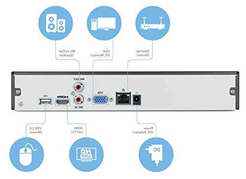 Amcrest Network Video 16-Channel, Supports up to 6TB HDD