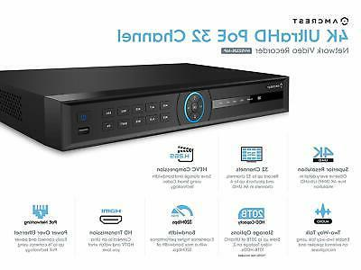 Amcrest NV5232E 32CH 4K Network Recorder 16P