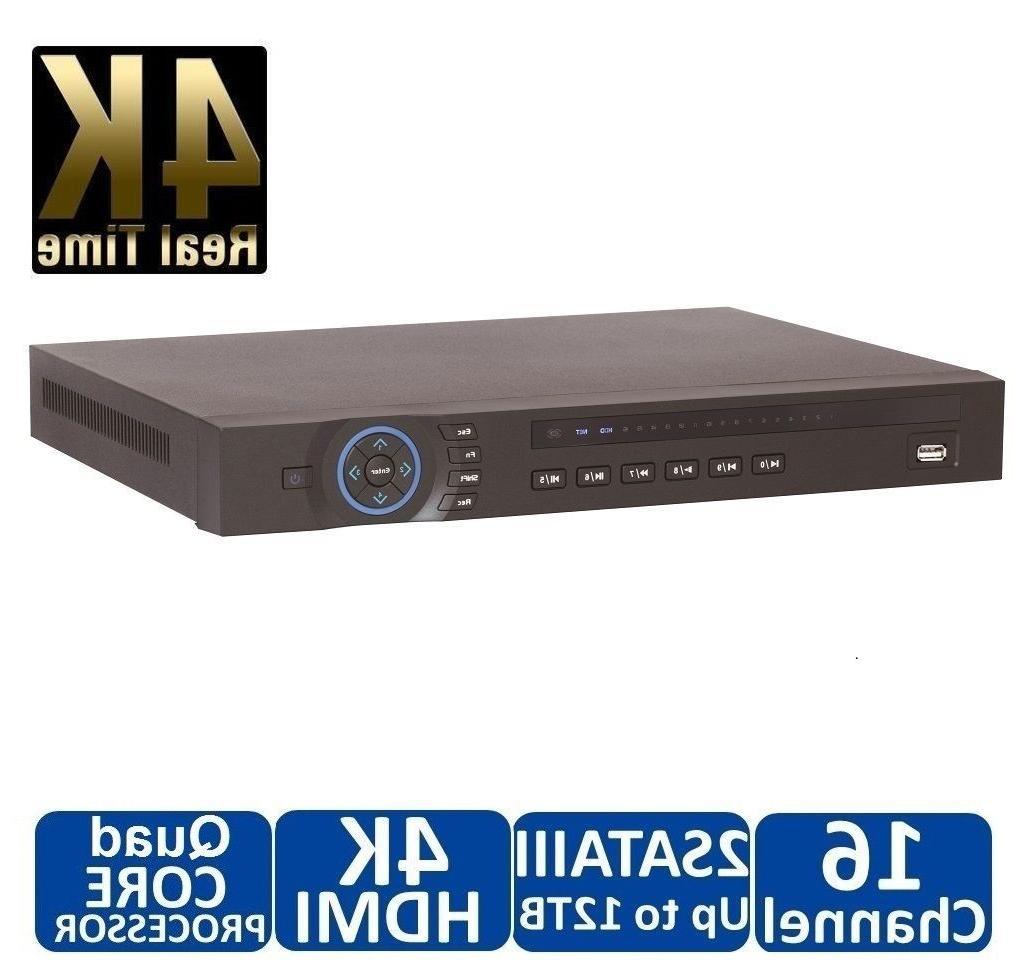 DAHUA 4K NVR, 16CH Channel Network Video Recorder Ultra High